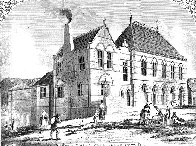 Cardigan Town Hall and Market, The Building News September 1859