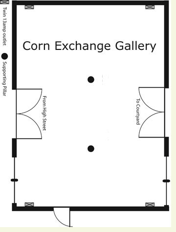 Corn Exchange Gallery in Cardigan Guildhall for Hire