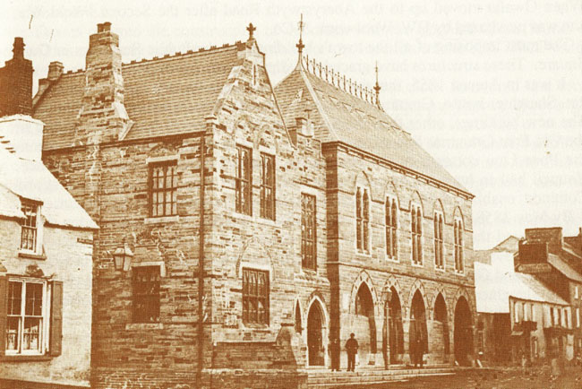 The earliest known photograph of the Guildhall (1860's?) pre dating the positioning of the cannon in front of the building (1871)