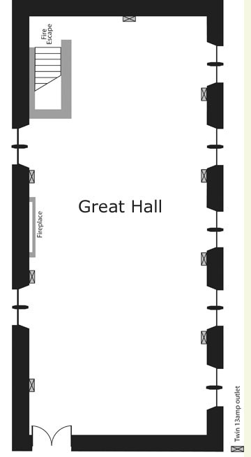 The Great Hall Cardigan Guildahll for weddings conferences and ceremonies